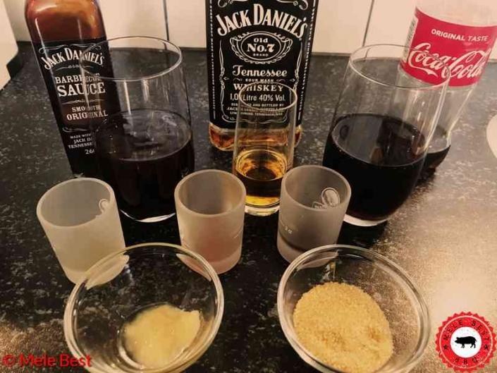 Whiskey cola spareribs